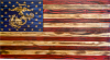 Custom Wood American Flags