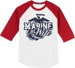 Marine Wife Baseball Tees