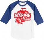 Marine Mom Baseball Tees