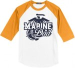 Marine Dad Baseball Tees