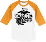 Marine Uncle Baseball Tees