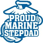 Marine Stepdad Stickers