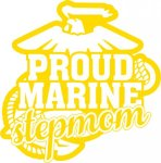 Marine Stepmom Stickers