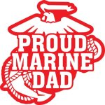 Marine Dad Stickers