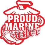 Marine Sister Stickers