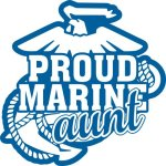 Marine Aunt Stickers