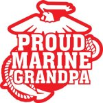 Marine Grandpa Stickers
